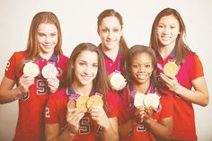 Team USA with all of their medals