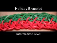▶ *NEW* Lesson 20: Rainbow Loom® Holiday Bracelet - YouTube