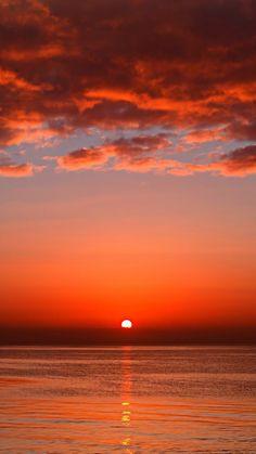 夕日 iPhone6 Plus壁紙