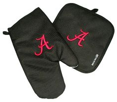 Alabama Crimson Tide Oven Mitt and Potholder with Embroidered Logo