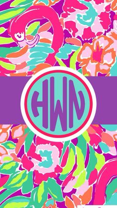 Lilly Pulitzer monogram wallpaper by hwhiteley03.  Made with Stencil app.