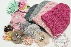 Kids winter fashion. Baby beanies supplier in Australia with DIY fabric embellishment.  #babybeanie #winterfashion #kidsfashion #DIYcraft #handmadebusinesssupply #embellishmentsupplystore #fabricflowersupplier