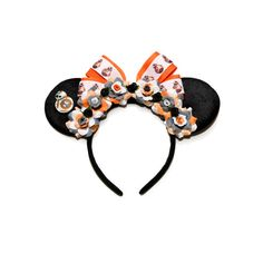 BB-8 Disney Ears Headband, Mouse Ears, BB8 Ears, Star Wars Minnie Ears, Star Wars Mickey Ears, Star Wars Headband, Disneyland, Disney World