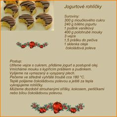 Jogurtové rohlíčky Christmas Candy, Christmas Baking, Christmas Cookies, Czech Recipes, Baking Recipes, Sweet Tooth, Deserts, Food And Drink, Sweets