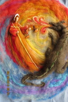 September ~ Michaelmas ~ Wool Art