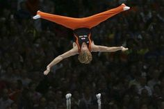 Dutch gymnast Epke Zonderland competes on the parallel bars during the apparatus final at the Artistic Gymnastics World Championships in Antwerp, Belgium on Sunday, Oct. 6, 2013. The 44th Artistic Gymnastics World Championships in Antwerp concludes on Sunday with both men and women competing in individual apparatus finals. (AP Photo/Virginia Mayo)