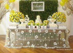 Festa Infantil Primavera. Créditos Verônica Jamkojian. Baby Party, Baby Shower Parties, Butterfly Party, Festa Party, Ideas Para Fiestas, Candy Table, Wedding Table, Party Planning, Party Time
