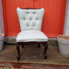Small Buttoned Nursery Chair #theupholsterystudio #bournemouth