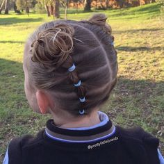 """""""Elastics and messy buns today. """" Photo taken by @prettylittlebraids on Instagram, pinned via the InstaPin iOS App! http://www.instapinapp.com (05/31/2015)"""