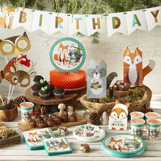 Wild One Woodland Dessert Plates 24 Count - Boys First Birthday Party Ideas, First Birthday Party Themes, Wild One Birthday Party, Birthday Themes For Boys, Baby Boy First Birthday, Boy Birthday Parties, Birthday Banners, Farm Birthday, Birthday Invitations