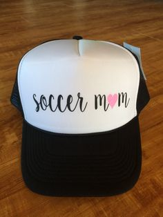 Soccer Mom Trucker Hat by SparkleTeesNMore on Etsy 7a3e7553a2a