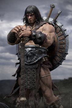 CONAN by Abraão Segundo   Fantasy   3D   CGSociety Conan Bárbaro, Conan Comics, Conan The Barbarian, Sword And Sorcery, Ritter, Fantasy Characters, Red Sonja, Comic Art, Comic Books Art