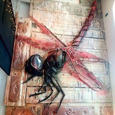 Trash Art. Dragonfly.