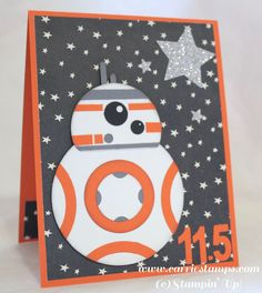 BB8 punch art card