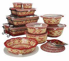 Temp-tations Floral Lace 16-Piece Oven To Table Set | Wire racks ...