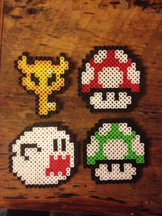 Mario Bead Sprite Magnet, your choice of one. make one