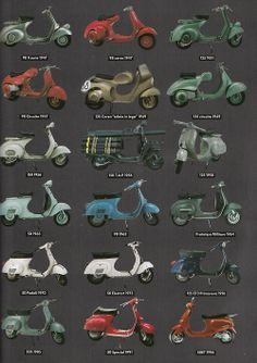 vespas getting them all Piaggio Vespa, Vespa Bike, Lambretta Scooter, Scooter Motorcycle, Motorcycle Design, Vintage Vespa, Vintage Bikes, Vespa 400, Honda Motorcycles