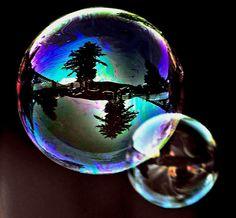Soap Bubbles C-W Reflections by Don Mann Reflection Art, Reflection Photography, Object Photography, Macro Photography, Pretty Pictures, Art Pictures, Bubbles Wallpaper, Blowing Bubbles, Shadow Art