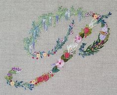 Mille fiori alphabet - P