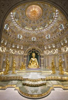 """BAPS Swaminarayan Akshardham (God's Abode) Temple in New Delhi. """" Recognized by Guinness World Records as the Largest Temple in the World, built in only 5 years! The central figure is Lord Swaminarayan. The inner sanctum represents the beauty of Akshardham and the divine serenity in the garbhagruh inspires peace and divine happiness. """" A […]"""