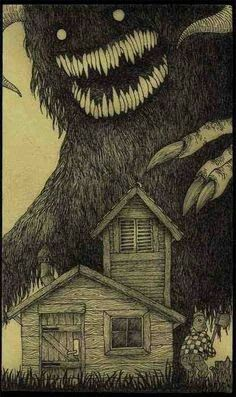 Post-It Monstre By John Kenn Mortensen. - Maybe you remember reading about John Kenn Mortensen's Monsters On Post-It Notes before on this b - Monster Art, Monster Drawing, Arte Horror, Horror Art, Horror Movies, Don Kenn, Arte Obscura, Photo Vintage, Creepy Art