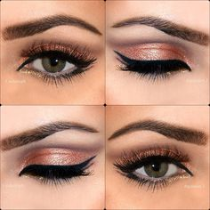 Repinned: copper eyes and liquid liner