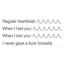 I really did but this is funny. You Lost Me, Just Me, Breakup Quotes, True Words, Daily Quotes, Random Quotes, Losing Me, In A Heartbeat, Real Talk