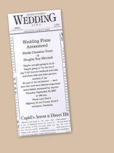 Wedding News Save the Date Card