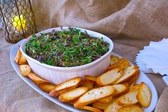 Organic Spinach & Artichoke Dip on Artisan Mini Baguette Wood Grill, Spinach Artichoke Dip, Laguna Beach, Seaweed Salad, Baguette, Dips, Grilling, Artisan, Menu