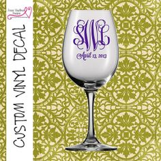 DIY Personalized Bride And Groom Vinyl Decals Stickers Make Your - How to make vinyl decals for wine glasses