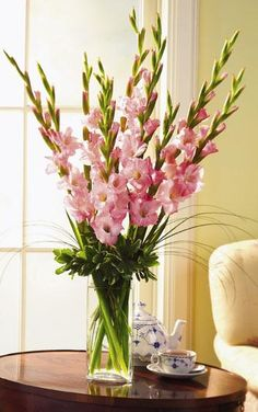 gladiolus tall centerpiece
