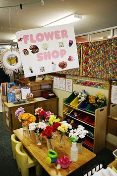 Flower Shop dramatic play--here's a learning/play center I've never seen in any classroom--brilliant!