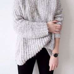 I love a grey knit | Her Couture Life www.hercouturelife.com