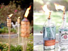 Feestverlichting tuin #9. Originele tuinfakkels #garden #party #BBQ #partylights #blog #Beaublue