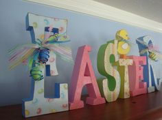 Easter Decor Wood Letters