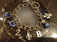 Zeta Phi Beta Inspired Charm Bracelet in silver tone by NELLYE56, $27.00