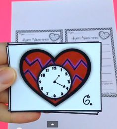 """FREE Telling Time Hearts by Teachin' Little Texans - This math freebie is for practicing telling time to the nearest 5 minutes. The game is called """"Happy Valen-times!"""" Prep is pretty easy."""