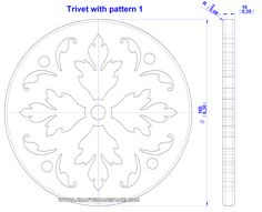 Trivet with pattern drawing