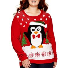 630cb933027f3 Ransom Long-Sleeve Holiday Sweater - Juniors Plus ( 23) ❤ liked on Polyvore  · Plus Size Christmas ...