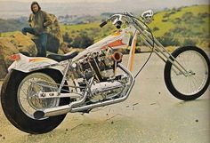 """vintage-chopper-scene: """" Long, low, sexy Sporty. Arlen? Anyone know the details? #Harley #harleydavidson #digger #chopper #choppers #choppershit #biker #chrome #ironhead #sporty #sportster #arlenness #springer #1960s #1970s #60s #70s """""""