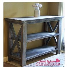 Entry way table made from pallets