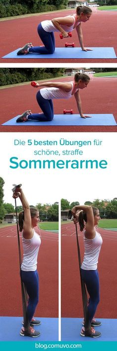 Sexy Summer Arms - Workout with 5 crunchy exercises for beautiful .- Sexy Sommerarme – Workout mit 5 knackigen Übungen für schöne, straffe Obera… Sexy Summer Arms – Workout with 5 crunchy exercises for beautiful, tight upper arms that are impressive. Yoga Fitness, Fitness Workouts, Fitness Motivation, Tips Fitness, Ab Workouts, At Home Workouts, Fitness Diet, Insanity Workout, Best Ab Workout