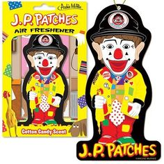 Children's show host J.P. Patches, as played by Chris Wedes, ruled Seattle television from 1958 to 1981 and still has a legion of devoted fans.  This wacky air freshener with cotton candy scent will be the perfect daily reminder of those carefree days spent in the company of the mayor of the City Dump.