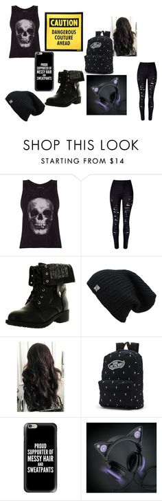 """""""My Life"""" by mystery-girl-132 ❤ liked on Polyvore featuring ElevenParis, WithChic, Refresh, Vans, Casetify, Moschino, casual, rebel and free"""