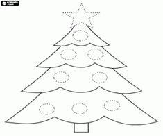 Colorear Abeto de Navidad para decorar