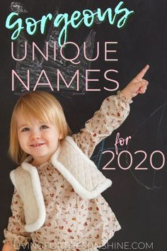 A list of beautiful unique names for girls in 2020. These cute but uncommon baby names will help you find the perfect name for your new daughter this year. #names #girlnames #uniquenames #babynames #babies