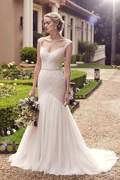 Wedding gown by Casablanca Bridal.Check out more gorgeous dresses in our Casablanca Bridal gown gallery ►