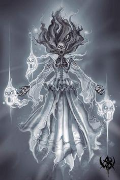 Una banshee (del gaélico irlandés bean si, mujer de los túmulos) es un hada perteneciente a la mitología irlandesa que suele presentarse como mensajera del inframundo y presagio de muerte. En la mi...