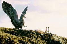 I love this part in Eragon when Saphira burns the rocks into a memorial. Magical Creatures, Fantasy Creatures, Cool Dragon Pictures, Eragon Saphira, Cool Dragons, Dragon Art, Creature Design, Cinematography, Bald Eagle