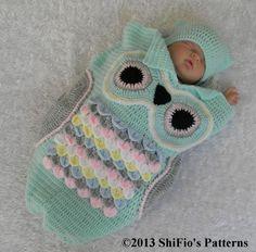 Owl Cocoon Crochet Pattern #245